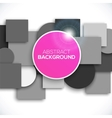 Square and circle background vector image vector image