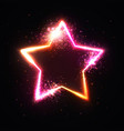 star frame with light flash and particles vector image vector image