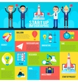 Start Up Flat Infographics vector image
