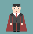 Successful businessman super hero vector image vector image
