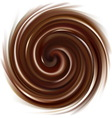 swirling chocolate texture vector image