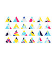 triangle design elements set vector image vector image