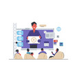 video conference webinar or business meeting vector image