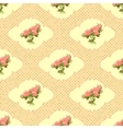 Vintage seamless pattern with roses and dots
