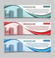 website horizontal business banners vector image vector image
