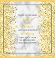 wedding luxury invitation card vector image