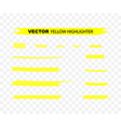 yellow highlighter marker strokes yellow vector image