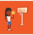 Young basketball player spinning ball vector image vector image