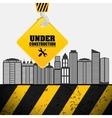 building process hang crane sign under vector image