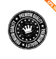 Grunge highest quality guarantee rubber stamp - vector image