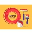 Paint design vector image