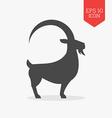 Goat icon Flat design gray color symbol element vector image