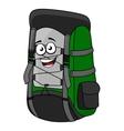 Green cartoon rucksack or backpack
