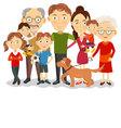 Big and happy family portrait with children paren vector image
