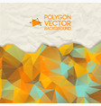 abstract crumpled paper background vector image vector image