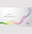 abstract rainbow line smoke curved vector image