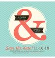 Ampersand Wedding invitation chevron background vector image vector image