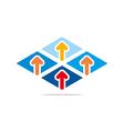 arrow letter line design symbols vector image vector image