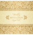Baroque wedding invitation gold vector image vector image