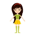 Beautiful cartoon fashion girl vector image vector image