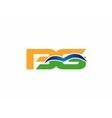 BG initial company group logo vector image