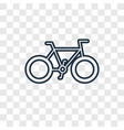 bicycle concept linear icon isolated on vector image