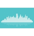 Big city landscape silhouettes vector image vector image