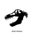 black silhouette of dinosaur skull vector image vector image