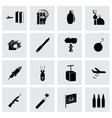 black terrorism icons set vector image vector image