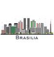 brasilia brazil city skyline with gray buildings vector image vector image