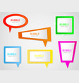 bubble banner label ribbon message vector image