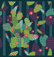 cactus seamless pattern exotic background vector image vector image