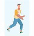 caucasian man runner or jogger running or jogging vector image