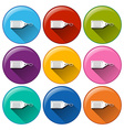 Circle buttons with tags vector image