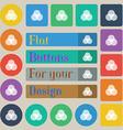 Color scheme icon sign Set of twenty colored flat vector image