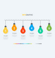 colorful diagram light bulbs infographic template vector image vector image