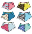 Cute cartoon hipster studded shorts set vector image vector image