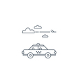 delivery to airport arrival meeting taxi cab vector image
