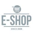 e shop logo simple gray style vector image vector image