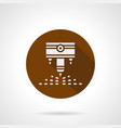 engraving laser machine brown round icon vector image vector image