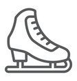 figure skating line icon activity and sport vector image