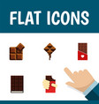 flat icon sweet set of cocoa shaped box vector image vector image