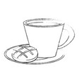 fresh bread and coffee vector image