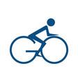 go bicycle logo design vector image