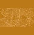 gold orange madrid city area background map vector image