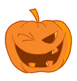 Halloween pumpkin winking vector | Price: 1 Credit (USD $1)