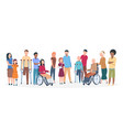 handicapped people people with disabilities happy vector image