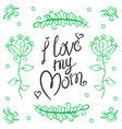 Happy mother day design style vector image