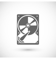Hard drive icon vector image vector image