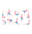 health concept pictures of female making yoga vector image